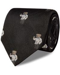 Polo Ralph Lauren - Polo Martini Bear Silk Tie - Lyst