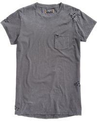 Superdry - Longline Destroyed Pocket T-shirt - Lyst