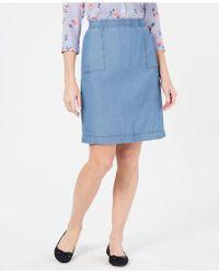 Karen Scott - Petite Cotton Denim Skirt, Created For Macy's - Lyst