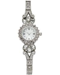 Charter Club - Silver-tone Crystal Bracelet Watch 25mm, Created For Macy's - Lyst