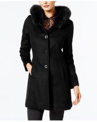 Forecaster | Fox-fur-trim A-line Walker Coat | Lyst
