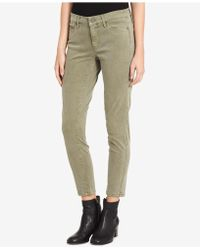 Calvin Klein Jeans - Sateen Ankle Skinny Jeans, Mossy Green Wash - Lyst