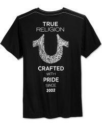 True Religion - Men's Graphic-print T-shirt - Lyst