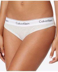 CALVIN KLEIN 205W39NYC - Modern Cotton Logo-waist Stretch Bikini Qf4079 - Lyst