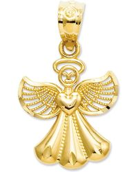 Macy's - 14k Gold Charm, Polished Angel Charm - Lyst