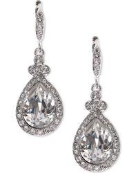Givenchy - Teardrop Pavé Crystal Drop Earrings - Lyst