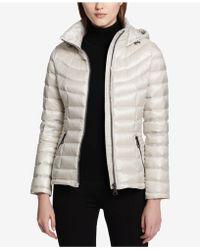 Calvin Klein | Smocked Down Puffer Coat | Lyst