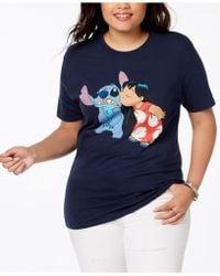 Disney - Plus Size Cotton Lilo & Stitch T-shirt - Lyst