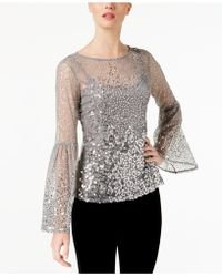 INC International Concepts - I.n.c. Sequinned Illusion Top, Created For Macy's - Lyst