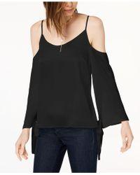 Kensie - Tie-sleeve Cold-shoulder Blouse - Lyst