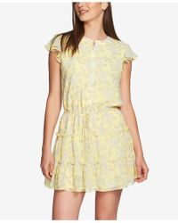 1.STATE - Short-sleeve Tiered-ruffle Dress - Lyst
