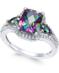 Macy's - Mystic Topaz (2-5/8 Ct. T.w.) And White Topaz (1/4 Ct. T.w.) Ring In Sterling Silver - Lyst