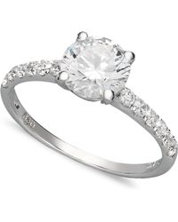 Arabella - 14k White Gold Ring, Swarovski Zirconia Wedding Ring (2-3/4 Ct. T.w.) - Lyst