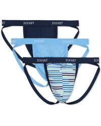 a34798f0113b 2xist 3-Pack Stretch Jock Strap in Blue for Men - Lyst