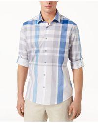 Alfani - Broad Plaid Shirt, Created For Macy's - Lyst