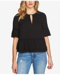 1.STATE - Ruffled Keyhole Top - Lyst