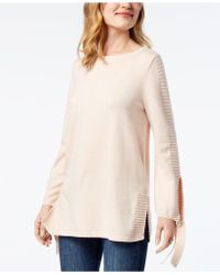 Style & Co. - Tie-sleeve Jumper, Created For Macy's - Lyst