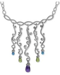 Carolyn Pollack - Multi-gemstone Statement Necklace (8-1/2 Ct. T.w.) In Sterling Silver - Lyst