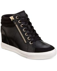 ALDO - Kaia Lace-up Wedge Sneakers - Lyst