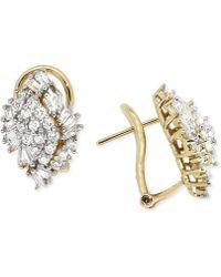 Wrapped in Love - Diamond Cluster Earrings (1 Ct. T.w.) In 14k Gold - Lyst