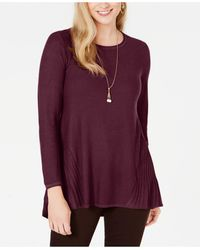 Style & Co. - Petite Pleated High-low Sweater, Created For Macy's - Lyst