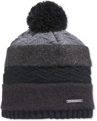 Sean John - Men's Mixed-media Pom Beanie Hat - Lyst