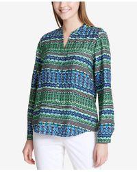 CALVIN KLEIN 205W39NYC - Striped Roll-tab Shirt - Lyst