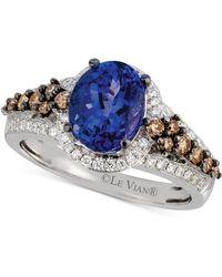 Le Vian - Tanzanite (1-3/4 Ct. T.w.) And Diamond (3/8 Ct. T.w.) Ring In 14k White Gold - Lyst