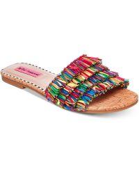 Betsey Johnson - Venus Slide Flat Sandals - Lyst