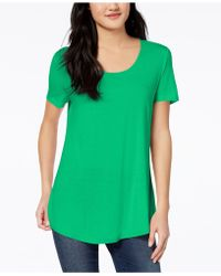 Maison Jules - Scoop-neck T-shirt, Created For Macy's - Lyst