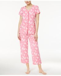 Charter Club - Scroll-print Pyjama Set - Lyst