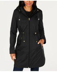 Cole Haan - Hooded Raincoat - Lyst