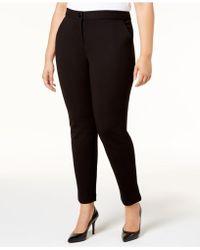 Alfani - Plus Size Ponté-knit Pants - Lyst