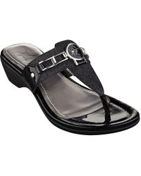 5024839c7 Steve Madden Kween Flat Thong Sandals in Black - Lyst