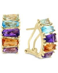 Effy Collection - Mosaic By Effy® Multi-gemstone (5-1/2 Ct. T.w.) & Diamond Accent Hoop Earrings 14k Gold - Lyst