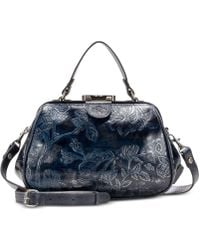 Patricia Nash - Gracchi Metallic Embossed Leather Satchel, Created For Macy's - Lyst