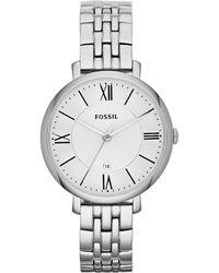 Fossil - Women's Jacqueline Stainless Steel Bracelet Watch 36mm Es3433 - Lyst