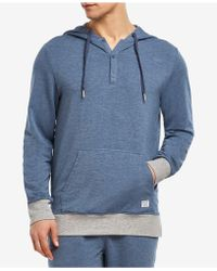2xist - Hooded Henley Sweatshirt - Lyst