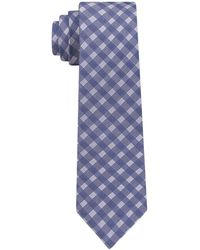 DKNY - Shadow Grid Silk Slim Tie - Lyst