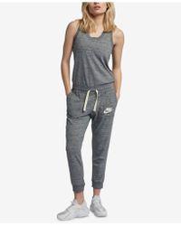 3bc445e843 Lyst - Nike Sportswear Colorblock Jumpsuit in Blue