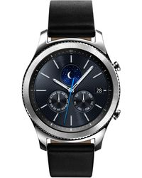 Samsung - Men's Gear S3 Classic Smart Watch With 46mm Case & Black Leather Strap Sm-r770nzsaxar - Lyst