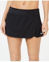 ea94f803d89 Lyst - Nike Core Swim Boardskirt in Black