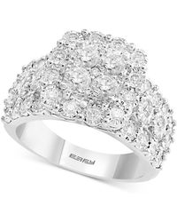 Effy Collection - Effy® Diamond Cluster Ring (1 Ct. T.w.) In 14k White Gold - Lyst