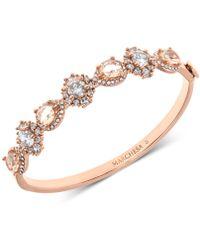 Marchesa - Rose Gold-tone Crystal & Stone Bangle Bracelet - Lyst