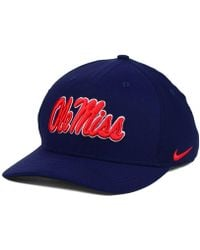 new product 46262 b7ddc Nike Ole Miss Rebels Col Cap in White for Men - Lyst
