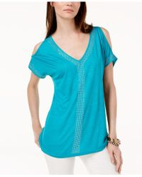 INC International Concepts - I.n.c. Petite Embellished Cold-shoulder Top, Created For Macy's - Lyst