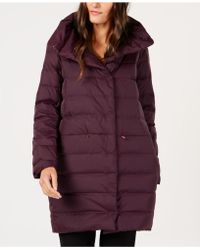 Eileen Fisher - Recycled Nylon Cocoon Puffer Coat - Lyst