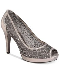 Adrianna Papell - Foxy Peep-toe Mesh Evening Court Shoes - Lyst