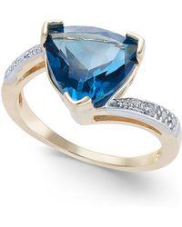 Macy's - London Blue Topaz (4-1/2 Ct. T.w.) & Diamond Accent Ring In 14k Gold - Lyst