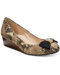 Cole Haan - Tali Grand Bow Wedge Pumps - Lyst